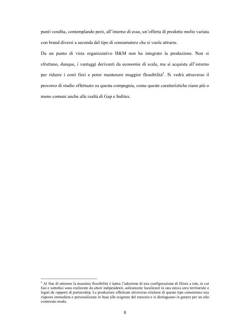 Anteprima della tesi: L'organizzazione della distribuzione in un'impresa del settore moda. Il caso Hennes & Mauritz., Pagina 6