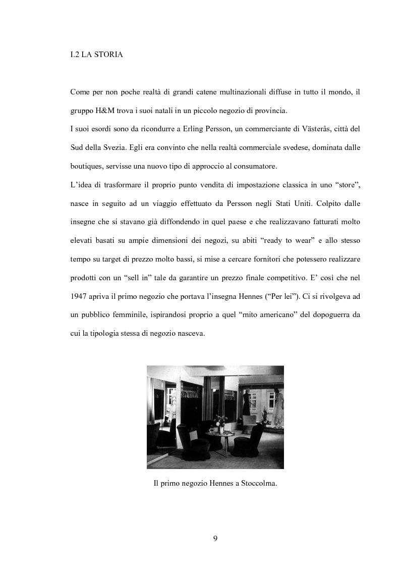 Anteprima della tesi: L'organizzazione della distribuzione in un'impresa del settore moda. Il caso Hennes & Mauritz., Pagina 7