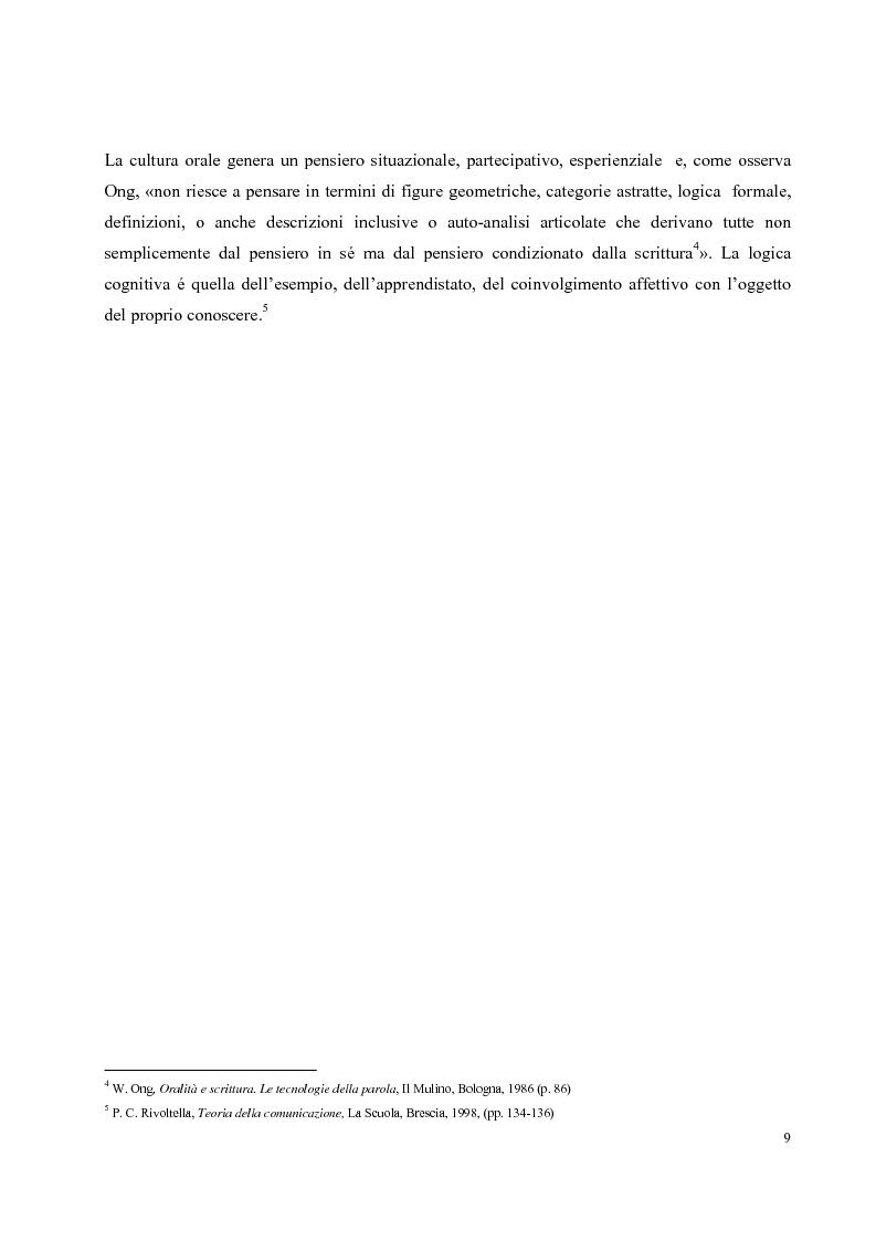 Anteprima della tesi: Didattica on-line e formazione universitaria: progettazione e realizzazione di un corso, Pagina 5