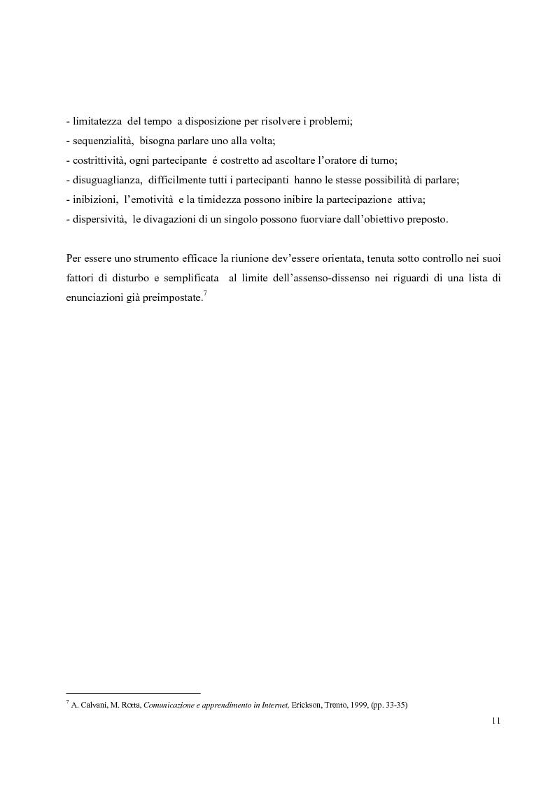 Anteprima della tesi: Didattica on-line e formazione universitaria: progettazione e realizzazione di un corso, Pagina 7