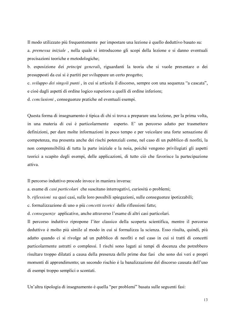 Anteprima della tesi: Didattica on-line e formazione universitaria: progettazione e realizzazione di un corso, Pagina 9
