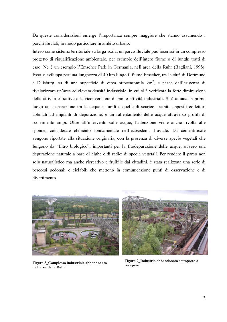 Anteprima della tesi: Il parco fluviale in ambito urbano: aspetti progettuali e scelta vegetazionale., Pagina 4