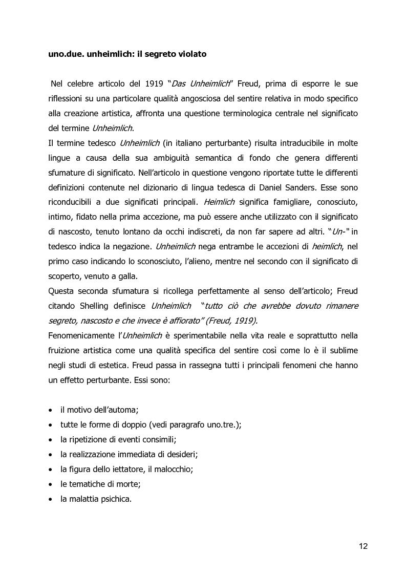 Anteprima della tesi: Un Corpo Altro - Il perturbante delle trasformazioni corporee nel cinema, Pagina 8
