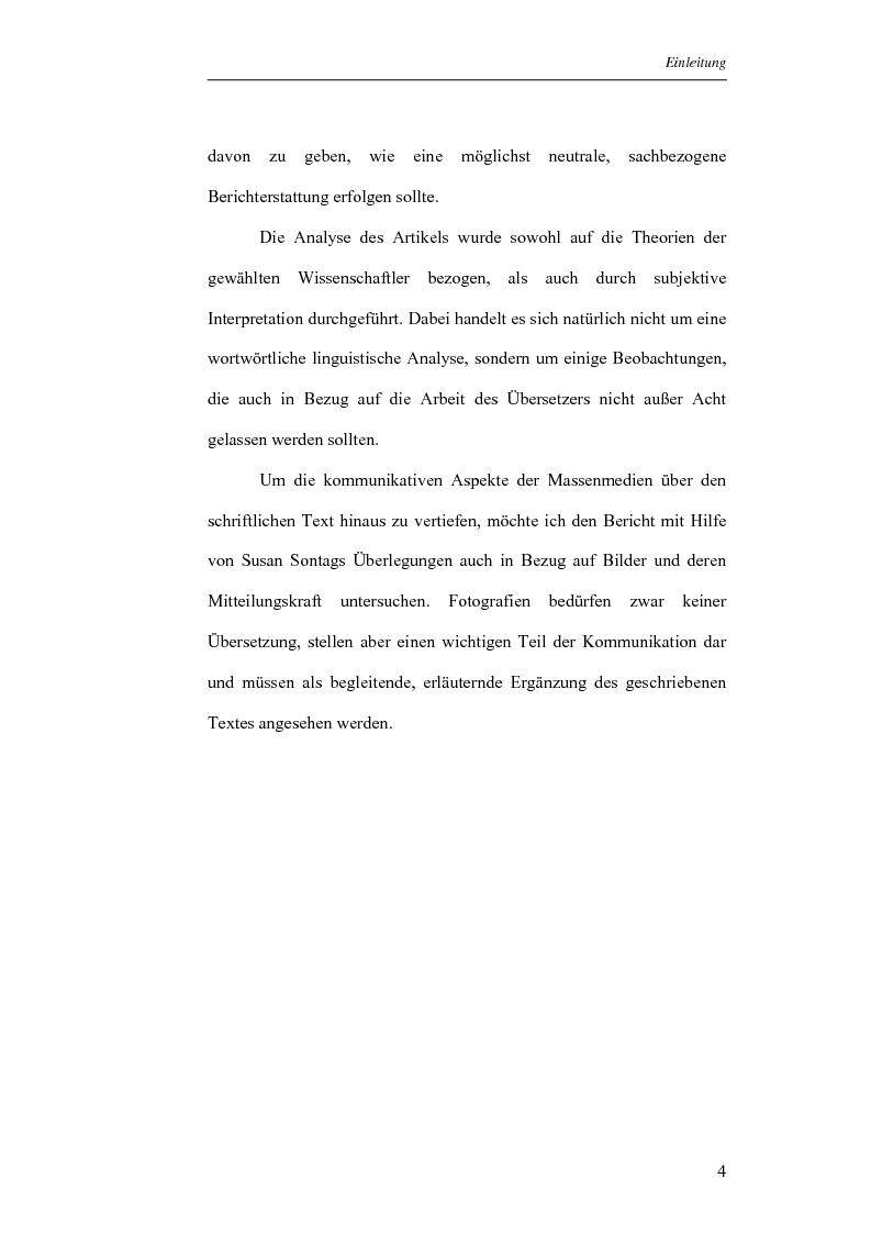 Anteprima della tesi: Analisi di una selezione di articoli dello Spiegel sull'11 settembre 2001 sulla base delle teorie di Norman Fairclough e Klaus Brinker (in lingua tedesca), Pagina 4