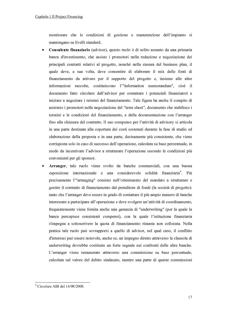 Anteprima della tesi: La valutazione economico-finanziaria nel project financing. Il caso Parco Millennium del Canavese, Pagina 12