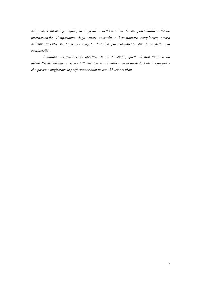 Anteprima della tesi: La valutazione economico-finanziaria nel project financing. Il caso Parco Millennium del Canavese, Pagina 3