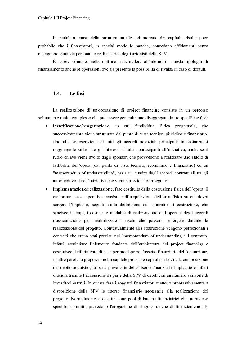 Anteprima della tesi: La valutazione economico-finanziaria nel project financing. Il caso Parco Millennium del Canavese, Pagina 7