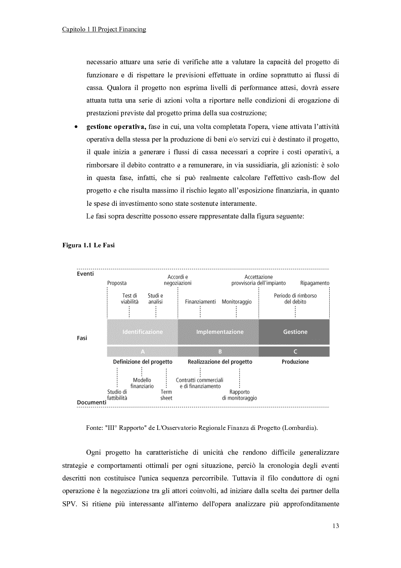 Anteprima della tesi: La valutazione economico-finanziaria nel project financing. Il caso Parco Millennium del Canavese, Pagina 8