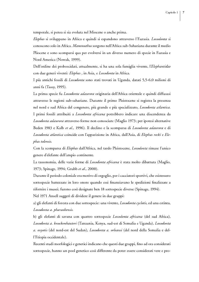 Anteprima della tesi: Gli elefanti del Tarangire. Uso dell'habitat e modelli di aggregazione nella stagione delle piogge, Pagina 3
