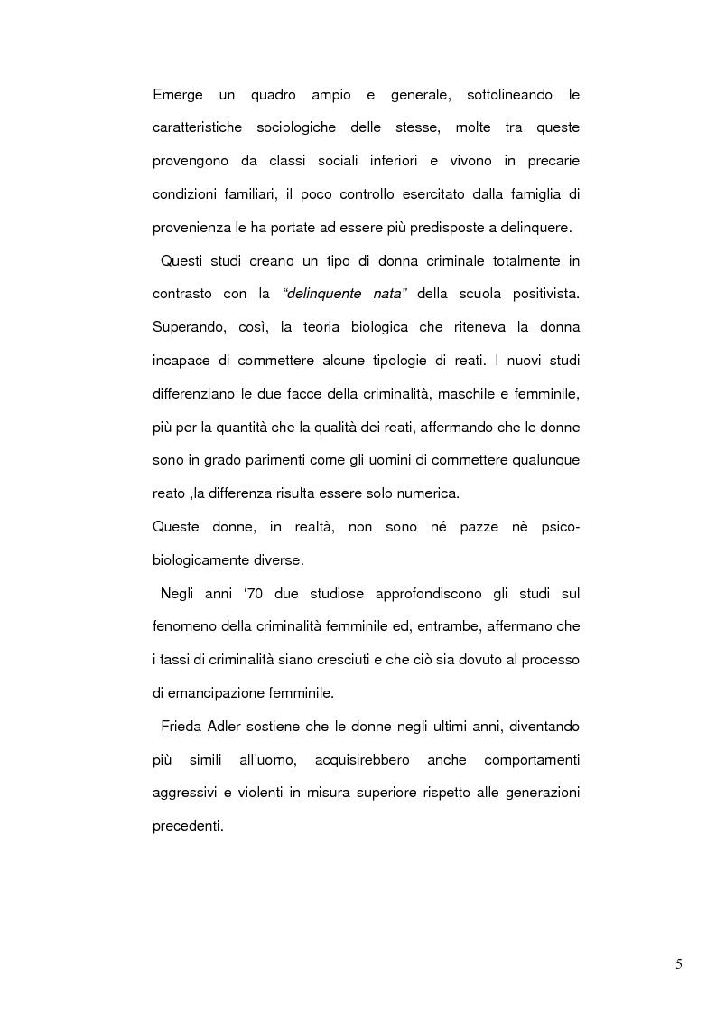 Anteprima della tesi: Donne e mafia, Pagina 4
