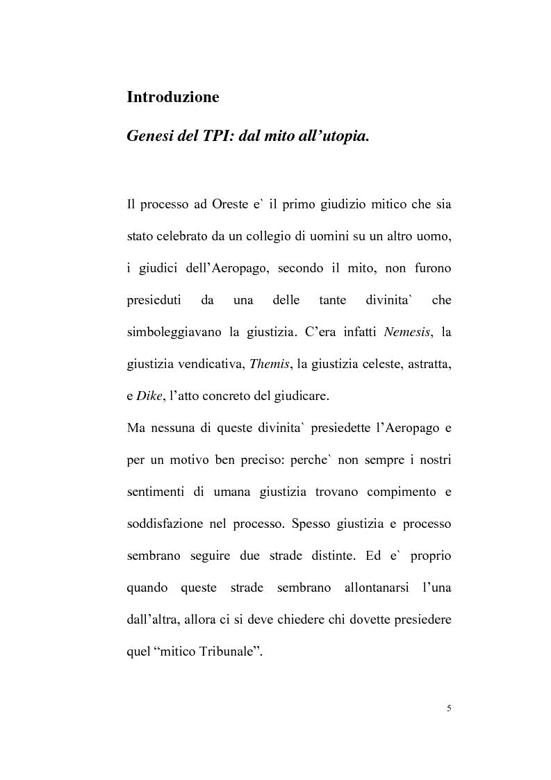 Anteprima della tesi: Il Tribunale Penale Internazionale, Pagina 1