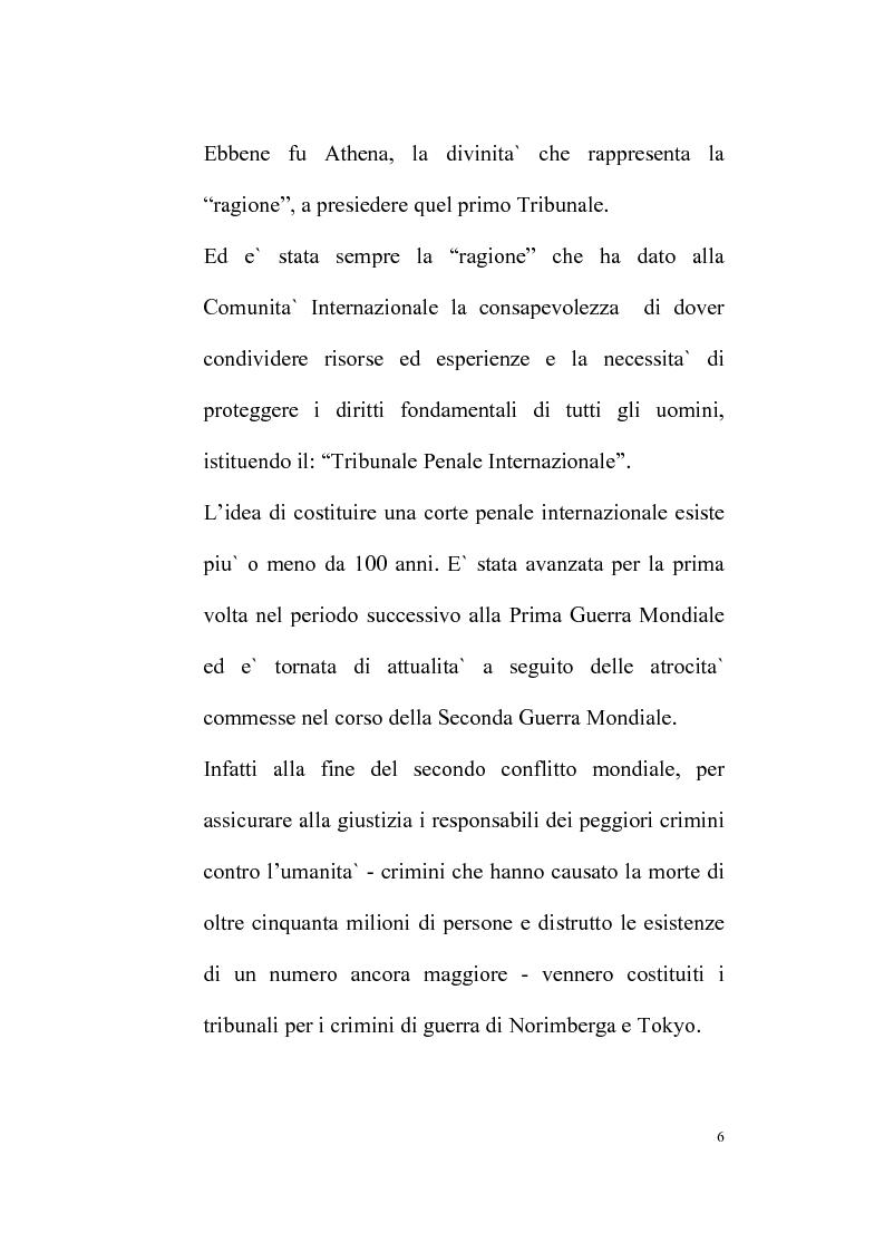 Anteprima della tesi: Il Tribunale Penale Internazionale, Pagina 2