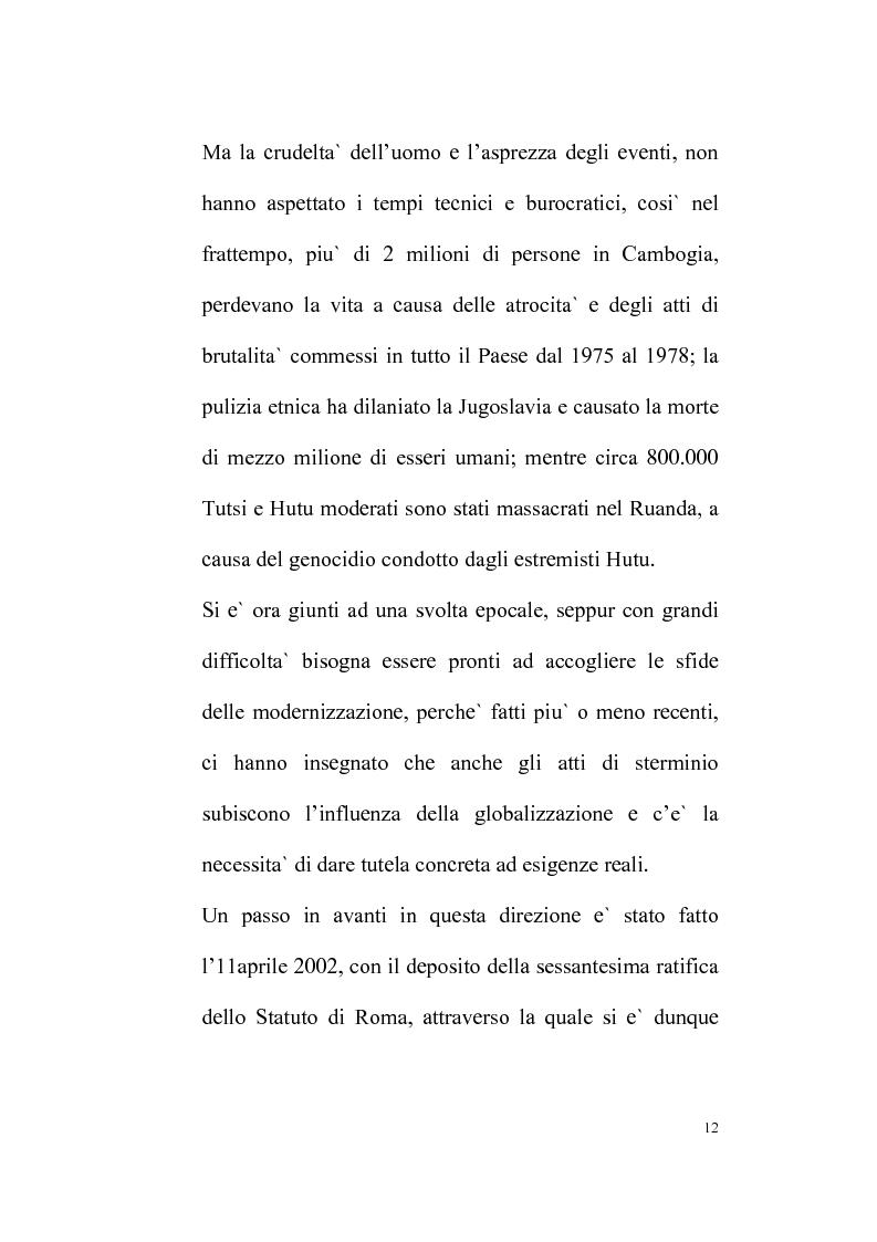Anteprima della tesi: Il Tribunale Penale Internazionale, Pagina 8
