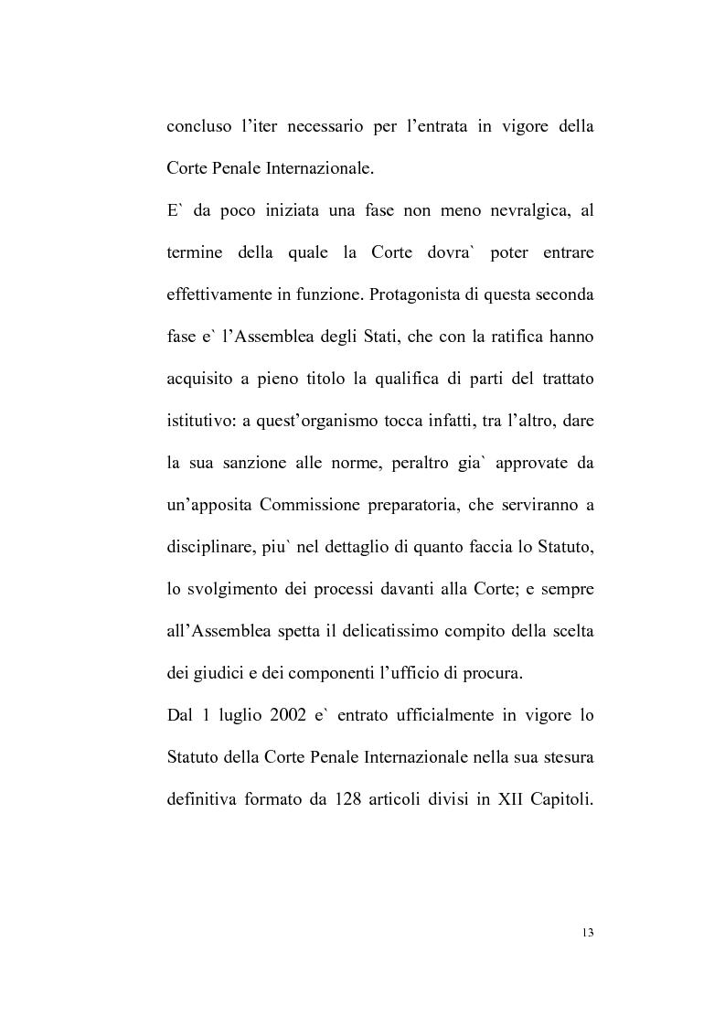 Anteprima della tesi: Il Tribunale Penale Internazionale, Pagina 9
