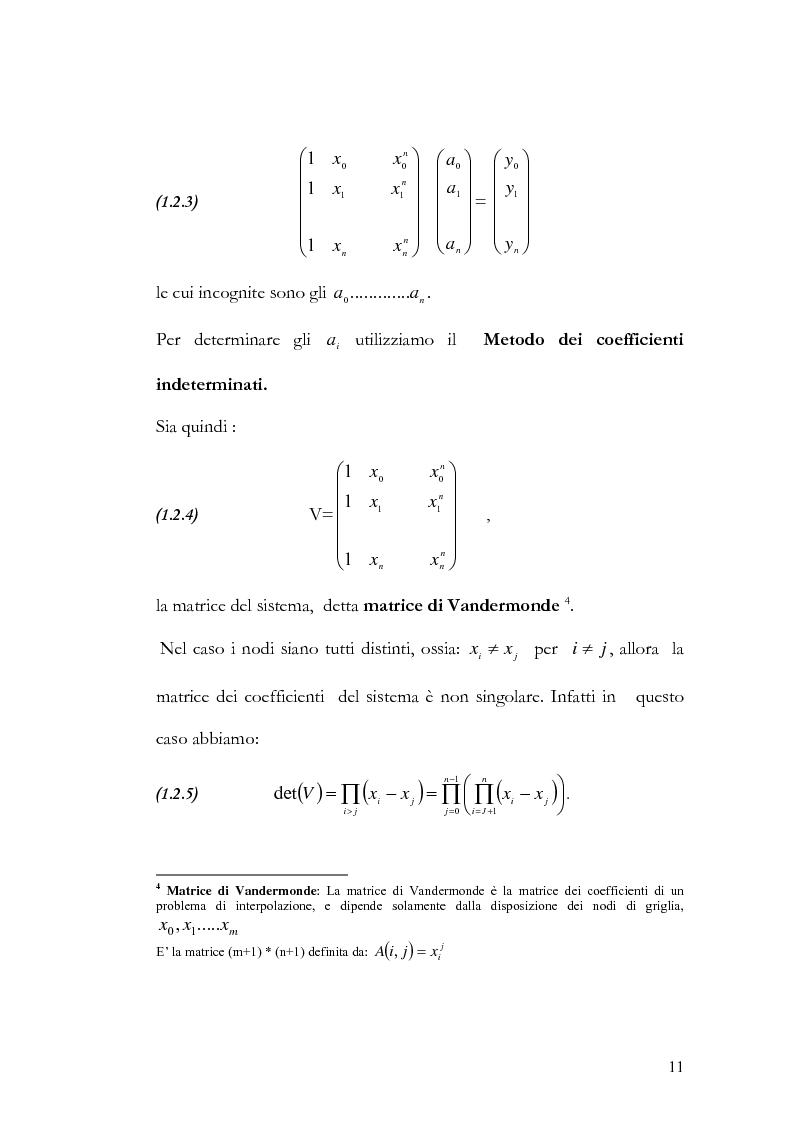 Anteprima della tesi: Progettazione e valutazione di una applicazione ed un applet Java per l'interpolazione polinomiale, Pagina 10