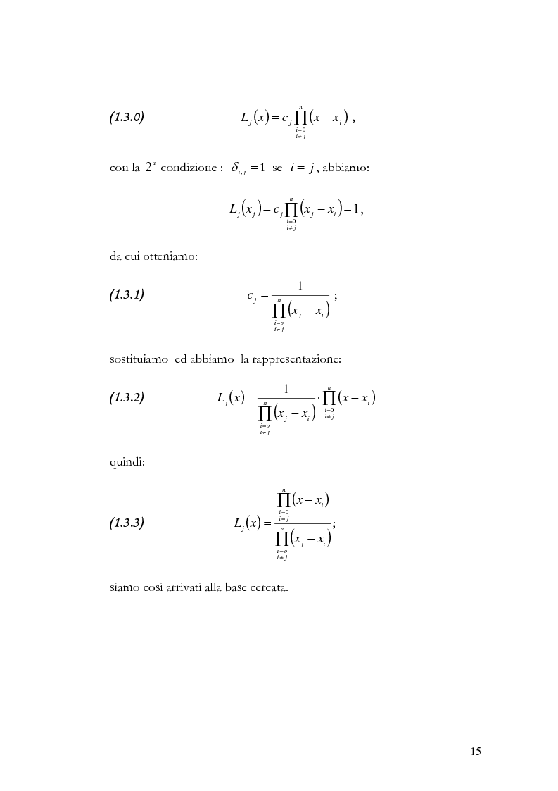 Anteprima della tesi: Progettazione e valutazione di una applicazione ed un applet Java per l'interpolazione polinomiale, Pagina 14