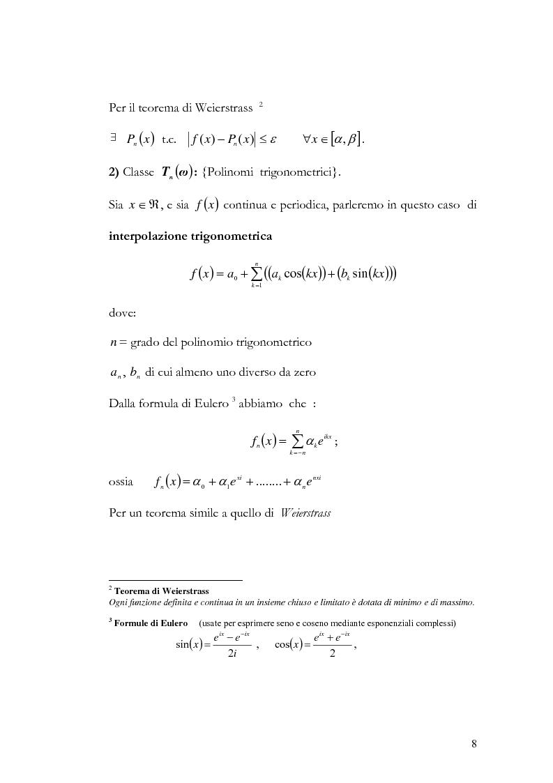 Anteprima della tesi: Progettazione e valutazione di una applicazione ed un applet Java per l'interpolazione polinomiale, Pagina 7