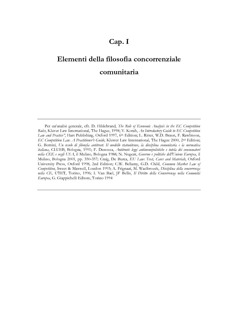 Anteprima della tesi: L'evoluzione delle regole di concorrenza nel diritto comunitario, Pagina 10