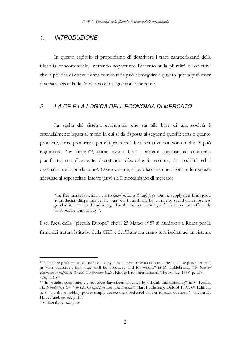 Anteprima della tesi: L'evoluzione delle regole di concorrenza nel diritto comunitario, Pagina 11