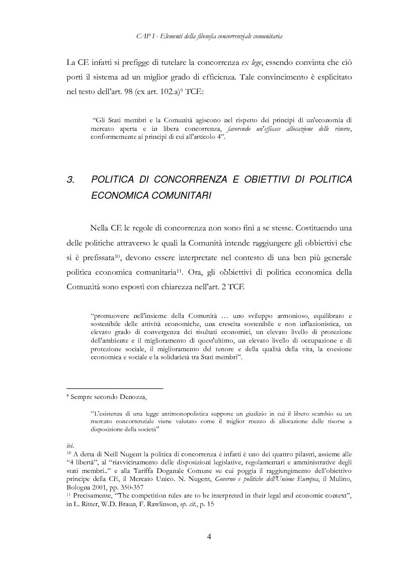 Anteprima della tesi: L'evoluzione delle regole di concorrenza nel diritto comunitario, Pagina 13