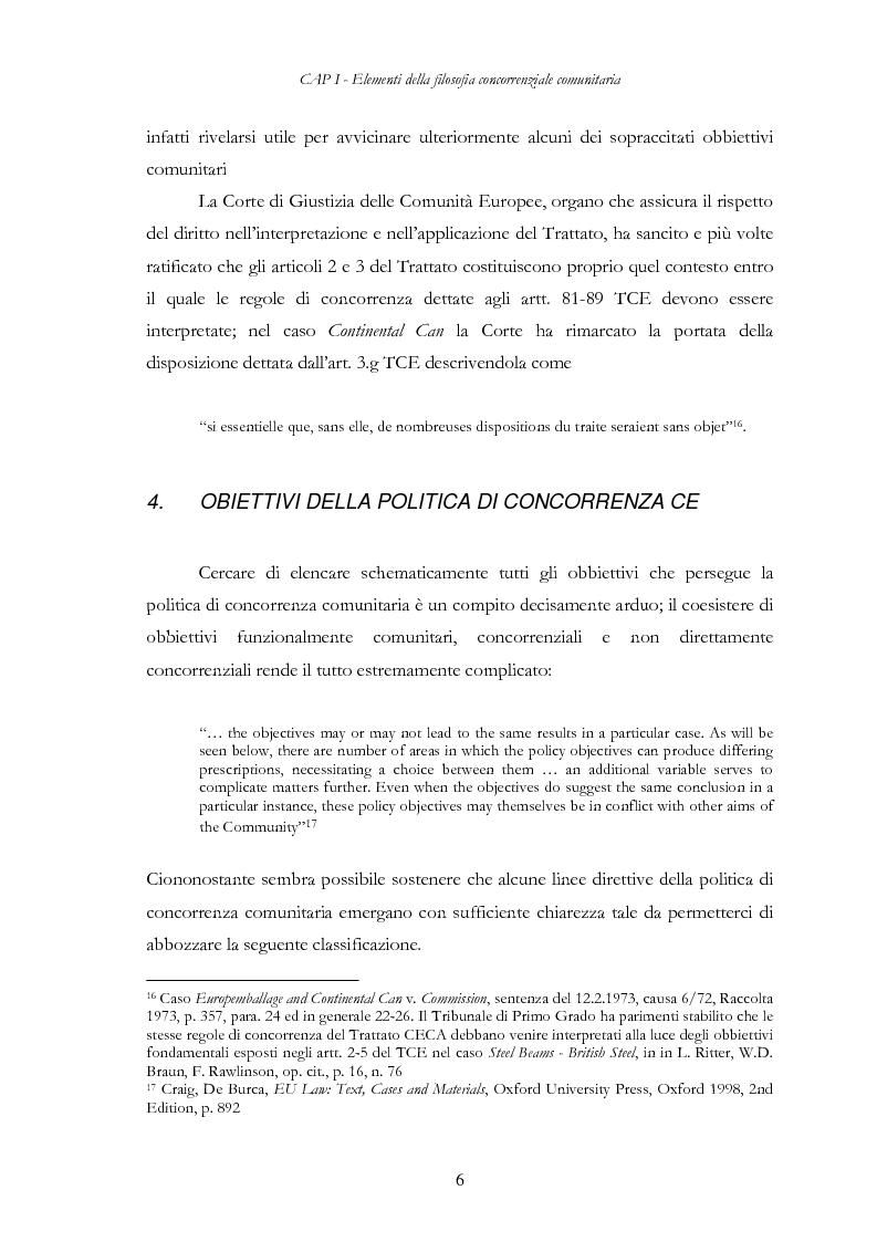 Anteprima della tesi: L'evoluzione delle regole di concorrenza nel diritto comunitario, Pagina 15
