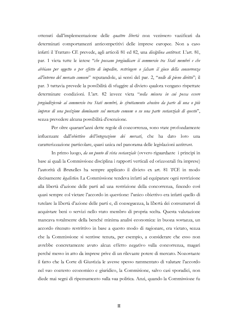 Anteprima della tesi: L'evoluzione delle regole di concorrenza nel diritto comunitario, Pagina 2