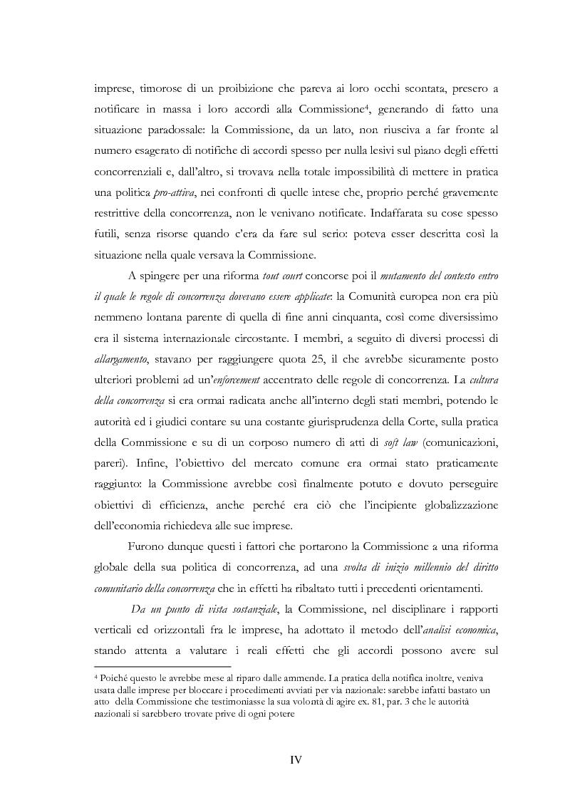 Anteprima della tesi: L'evoluzione delle regole di concorrenza nel diritto comunitario, Pagina 4