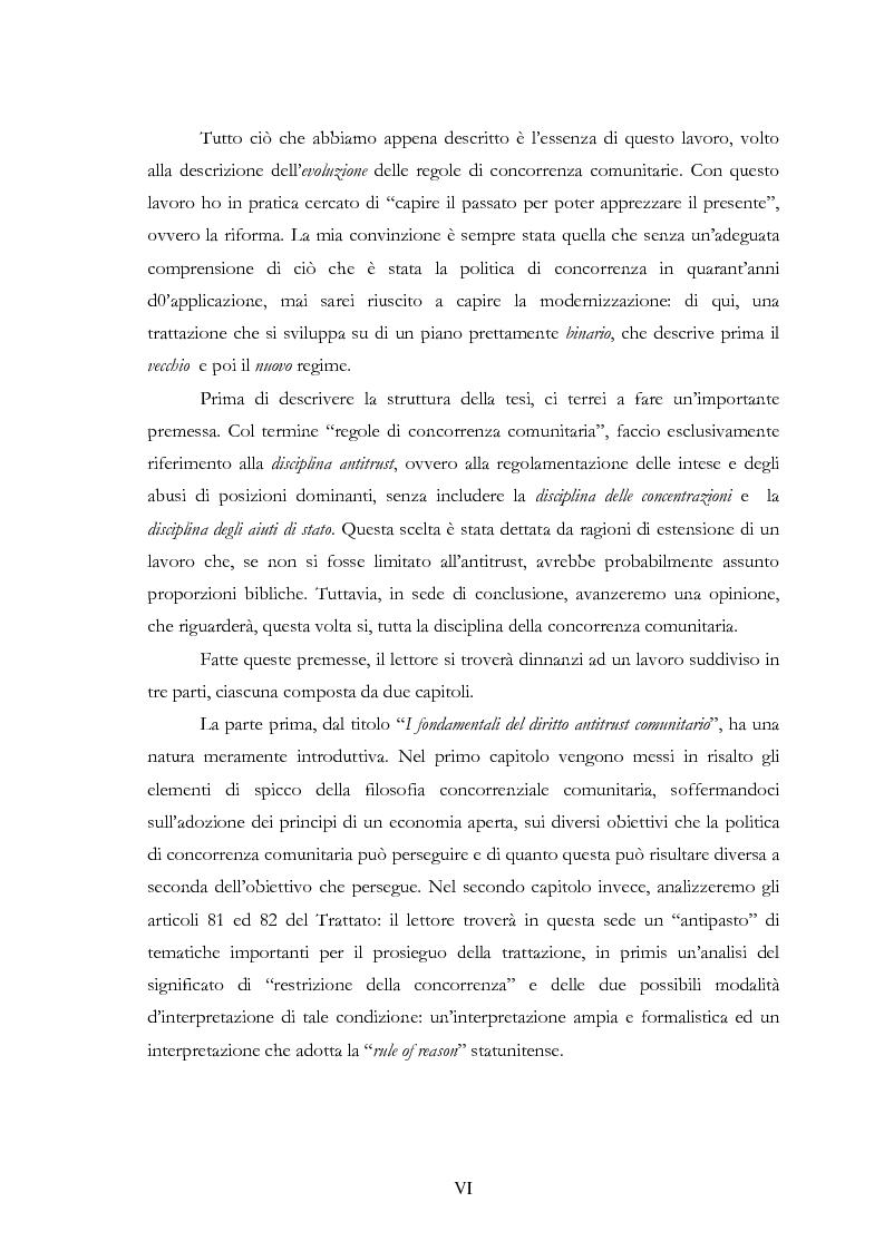 Anteprima della tesi: L'evoluzione delle regole di concorrenza nel diritto comunitario, Pagina 6