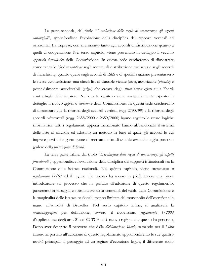 Anteprima della tesi: L'evoluzione delle regole di concorrenza nel diritto comunitario, Pagina 7