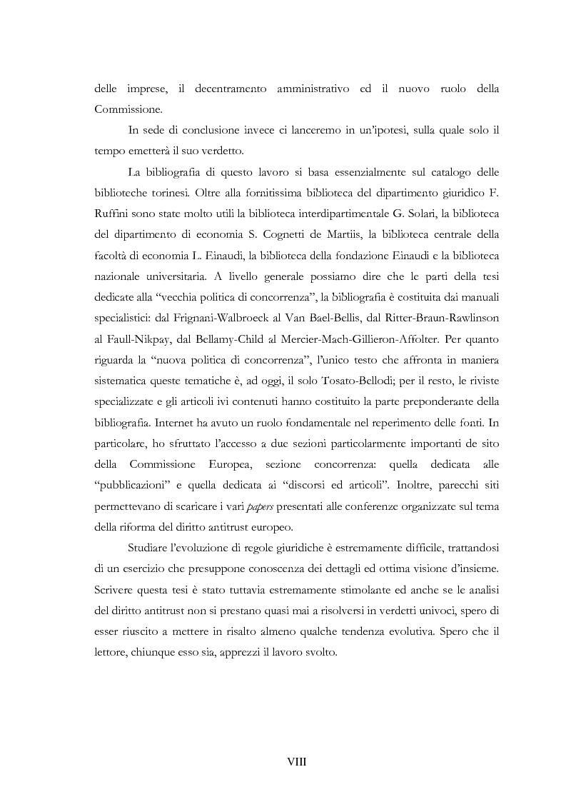 Anteprima della tesi: L'evoluzione delle regole di concorrenza nel diritto comunitario, Pagina 8