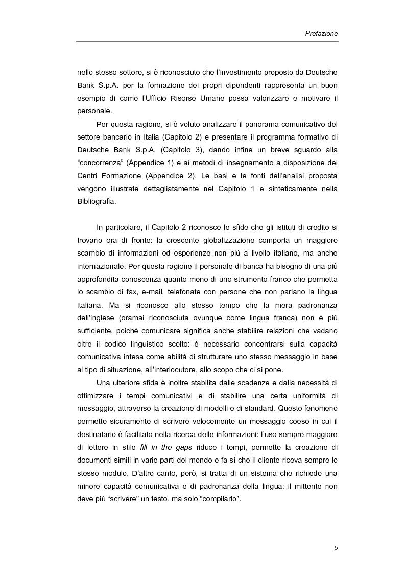 Anteprima della tesi: Mediazione linguistica e formazione in ambito bancario. Il caso Deutsche Bank., Pagina 2