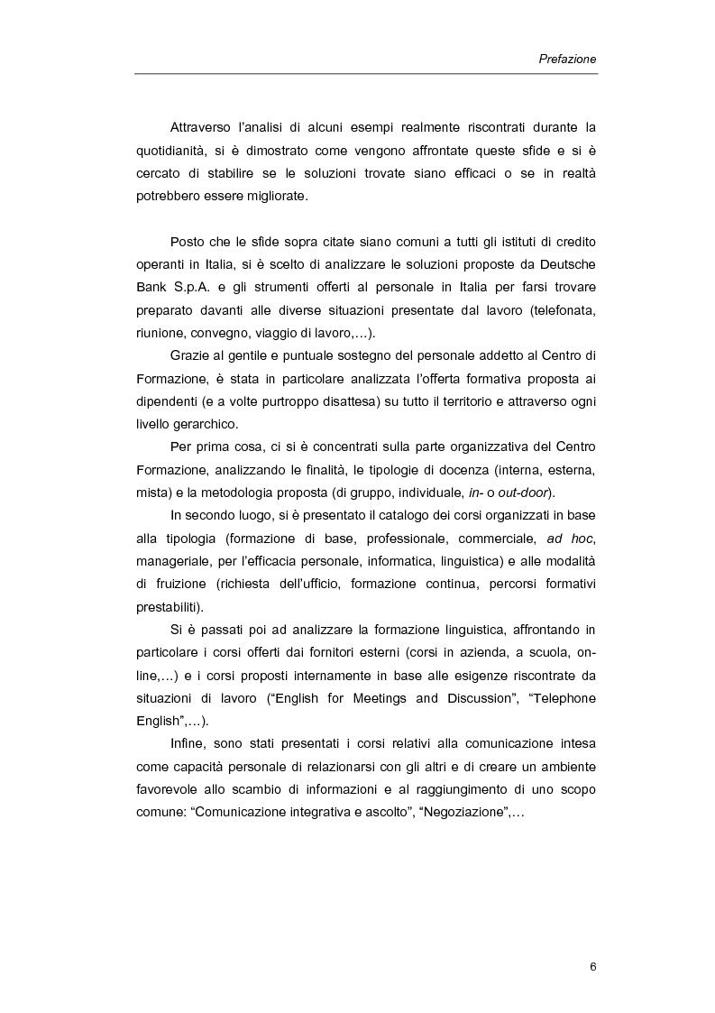 Anteprima della tesi: Mediazione linguistica e formazione in ambito bancario. Il caso Deutsche Bank., Pagina 3