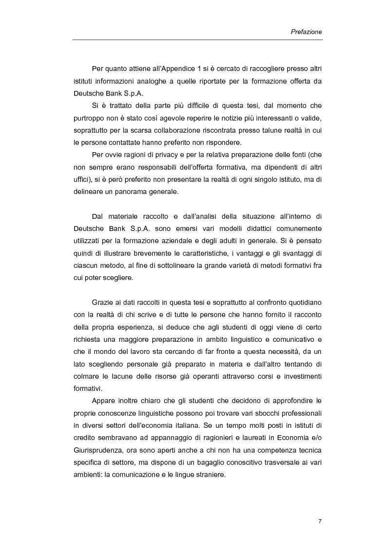 Anteprima della tesi: Mediazione linguistica e formazione in ambito bancario. Il caso Deutsche Bank., Pagina 4