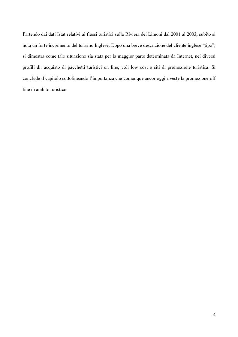 Anteprima della tesi: La Riviera dei Limoni: impatto delle nuove tecnologie dell'informazione, Pagina 2