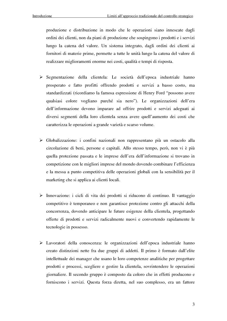 Anteprima della tesi: Dalla strategia ai comportamenti: la Balanced Scorecard come sistema di valutazione delle prestazioni, Pagina 3