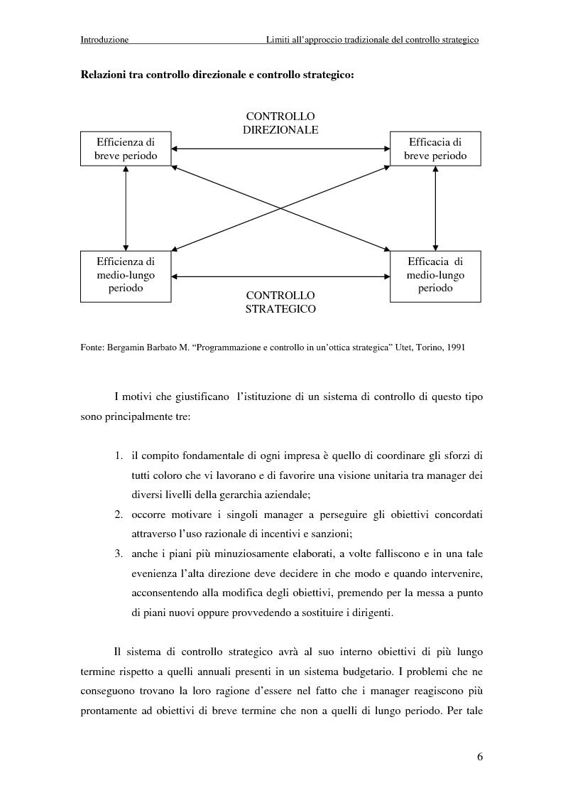 Anteprima della tesi: Dalla strategia ai comportamenti: la Balanced Scorecard come sistema di valutazione delle prestazioni, Pagina 6