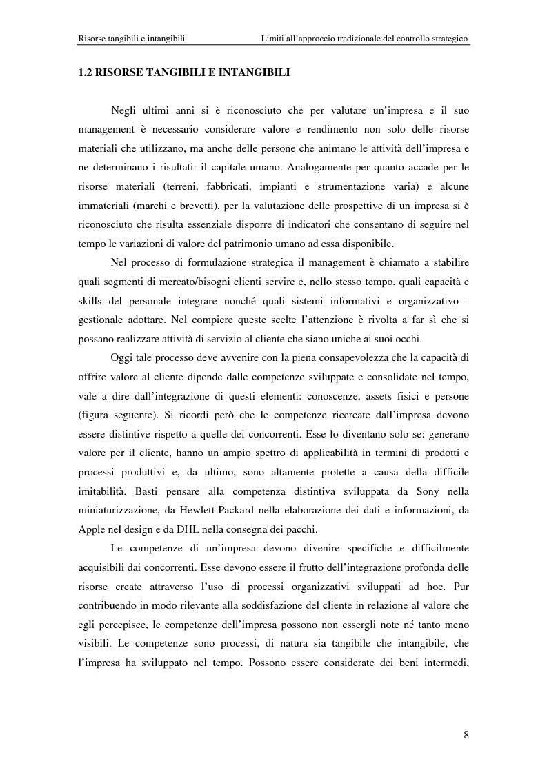 Anteprima della tesi: Dalla strategia ai comportamenti: la Balanced Scorecard come sistema di valutazione delle prestazioni, Pagina 8