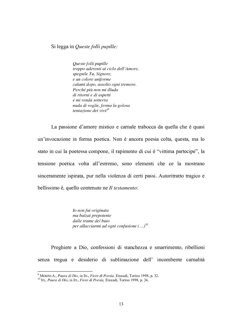 Anteprima della tesi: Il multiforme universo di Alda Merini. Temi e figure., Pagina 8