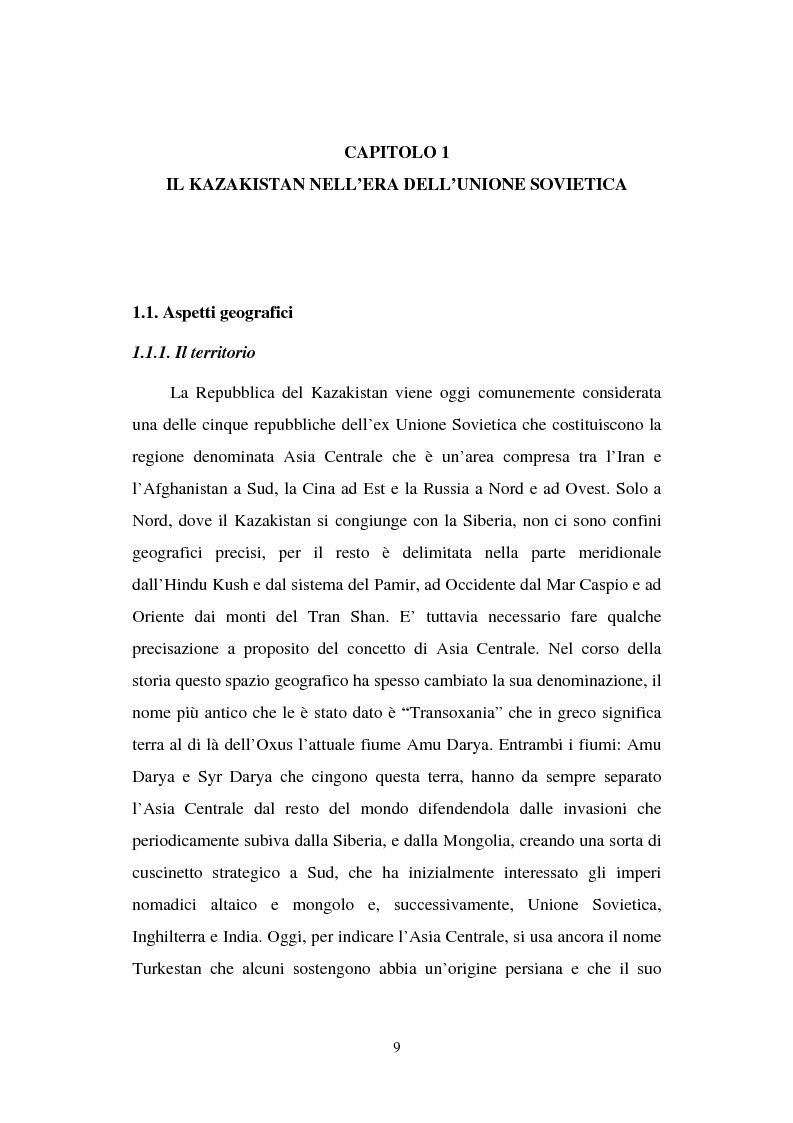 Anteprima della tesi: La transizione economica del Kazakistan, Pagina 4