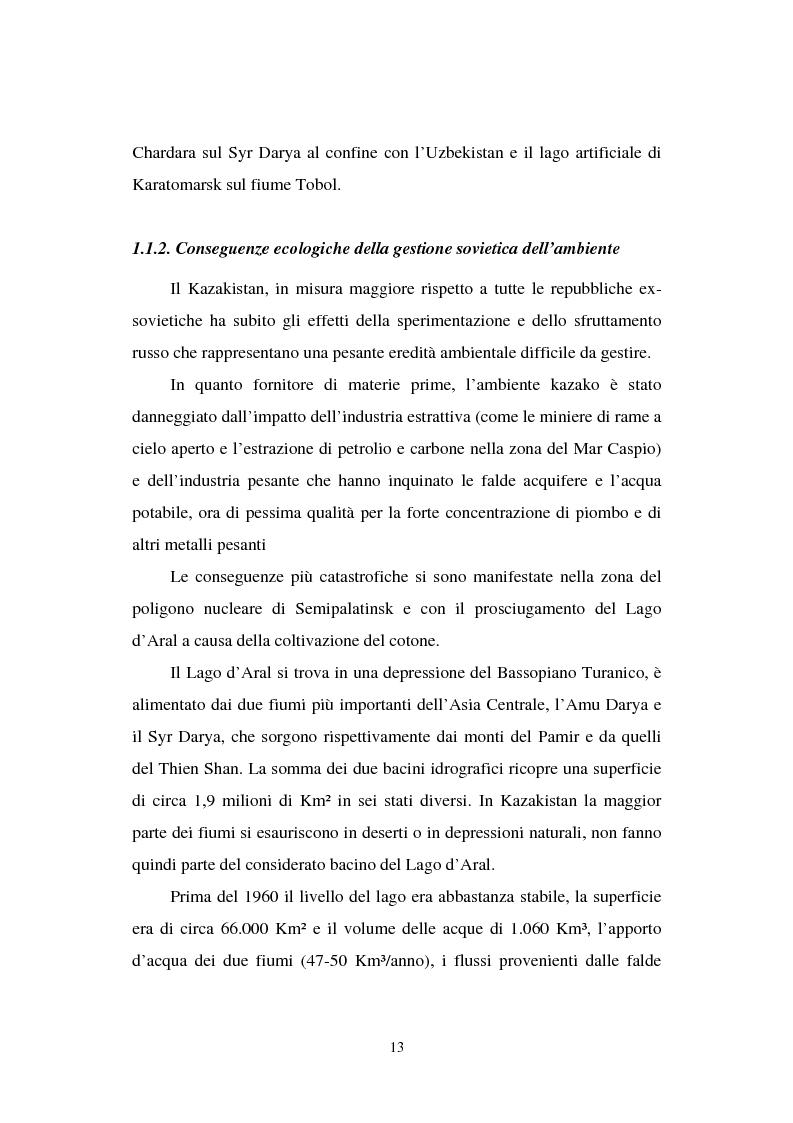 Anteprima della tesi: La transizione economica del Kazakistan, Pagina 8