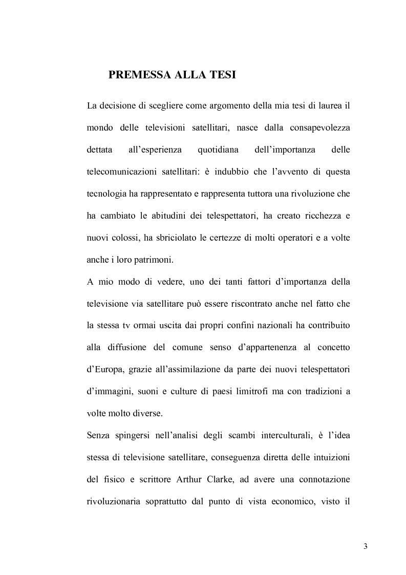 Anteprima della tesi: La TV Digitale per le imprese: il caso Telespazio, Pagina 1