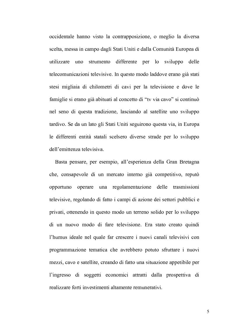 Anteprima della tesi: La TV Digitale per le imprese: il caso Telespazio, Pagina 3