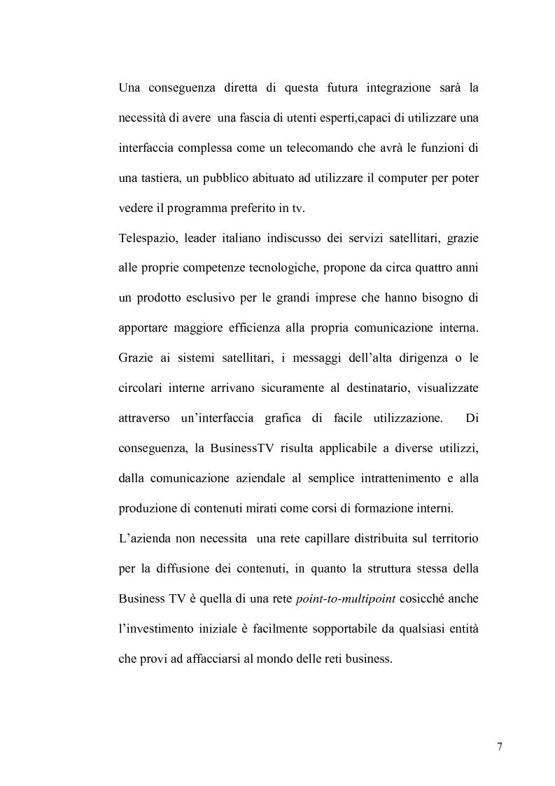 Anteprima della tesi: La TV Digitale per le imprese: il caso Telespazio, Pagina 5