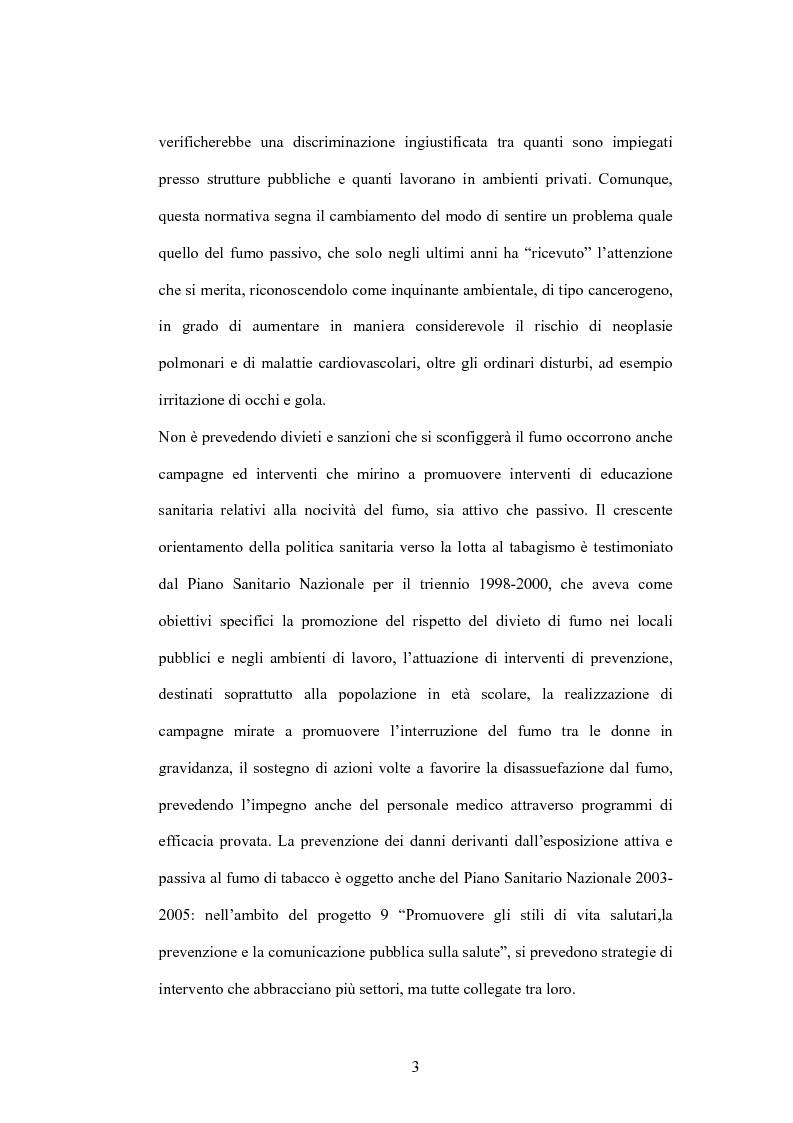 Anteprima della tesi: Fumo passivo e ambiente di lavoro: quadro medico, normativo e orientamenti giurisprudenziali, Pagina 3