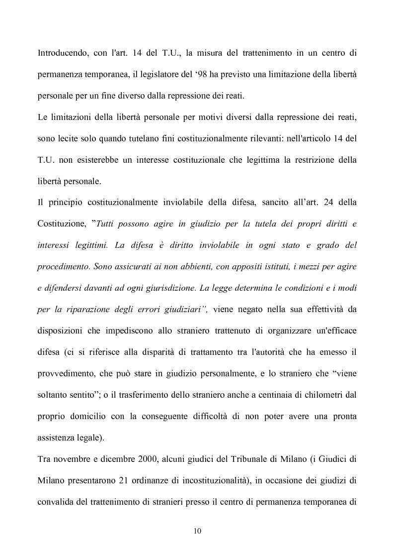 Anteprima della tesi: La condizione giuridica dello straniero nell'ordinamento italiano, Pagina 10