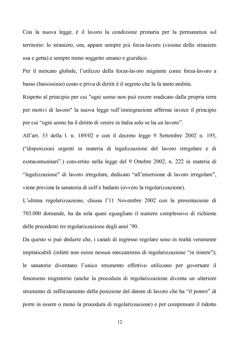 Anteprima della tesi: La condizione giuridica dello straniero nell'ordinamento italiano, Pagina 12