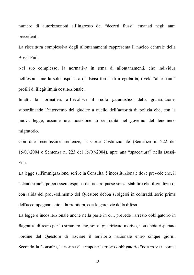 Anteprima della tesi: La condizione giuridica dello straniero nell'ordinamento italiano, Pagina 13