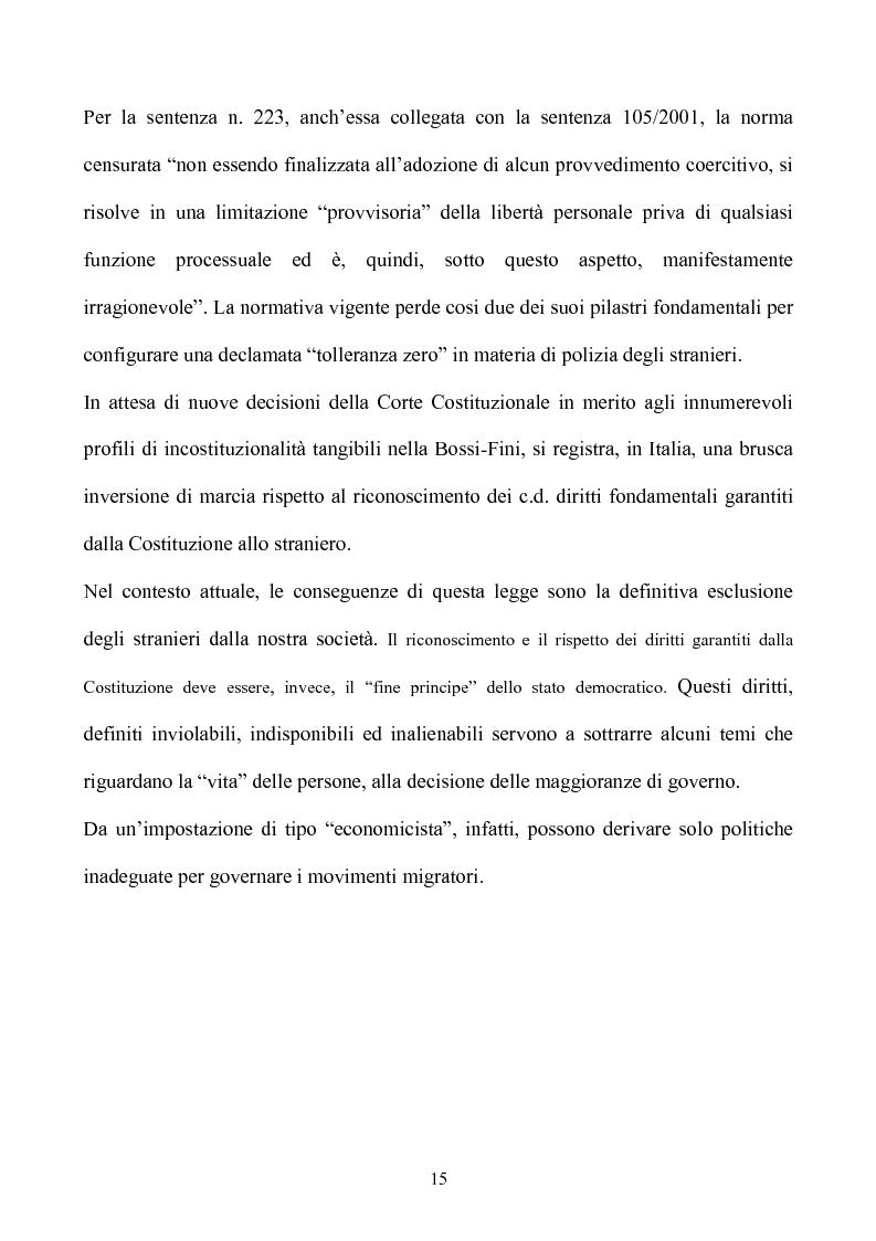 Anteprima della tesi: La condizione giuridica dello straniero nell'ordinamento italiano, Pagina 15