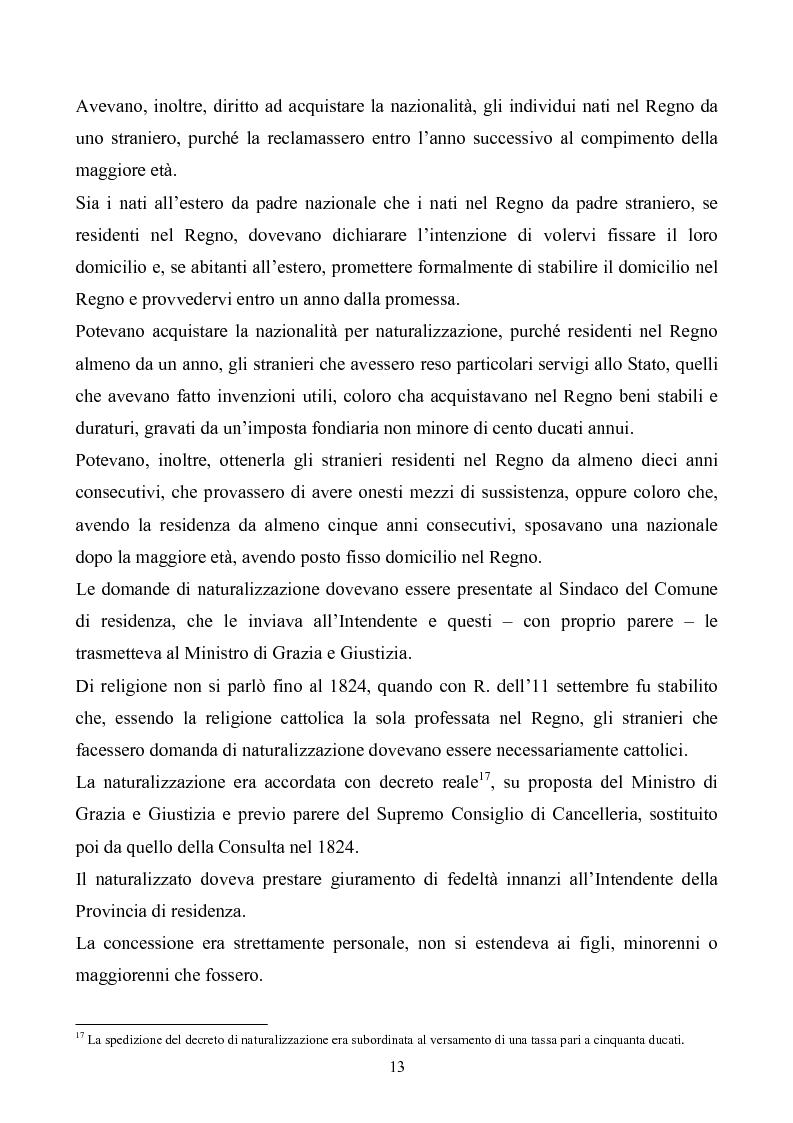 Anteprima della tesi: Le istituzioni politiche ed amministrative nel Regno delle Due Sicilie dal 1815 al 1860, Pagina 10