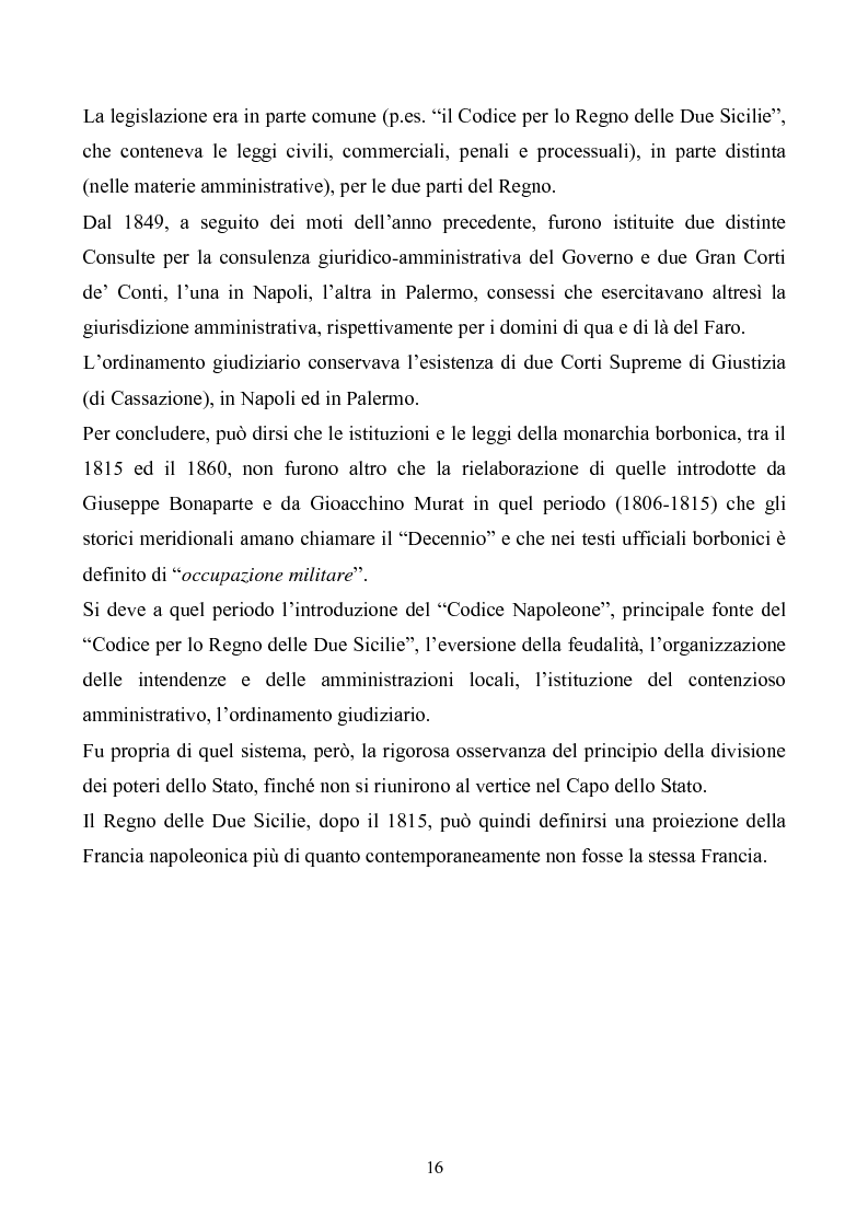 Anteprima della tesi: Le istituzioni politiche ed amministrative nel Regno delle Due Sicilie dal 1815 al 1860, Pagina 13